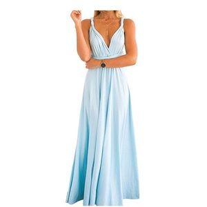 Women's Convertible Wrap Multi Way Maxi Dress